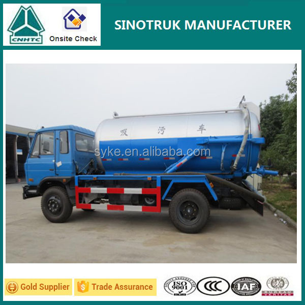 Good Quality Vacuum Pump Sewage Suction Tanker Truck for Sale