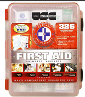 326 pieces first aid kit bag complete and OEM travel medical kit with CE ISO13485 FDA