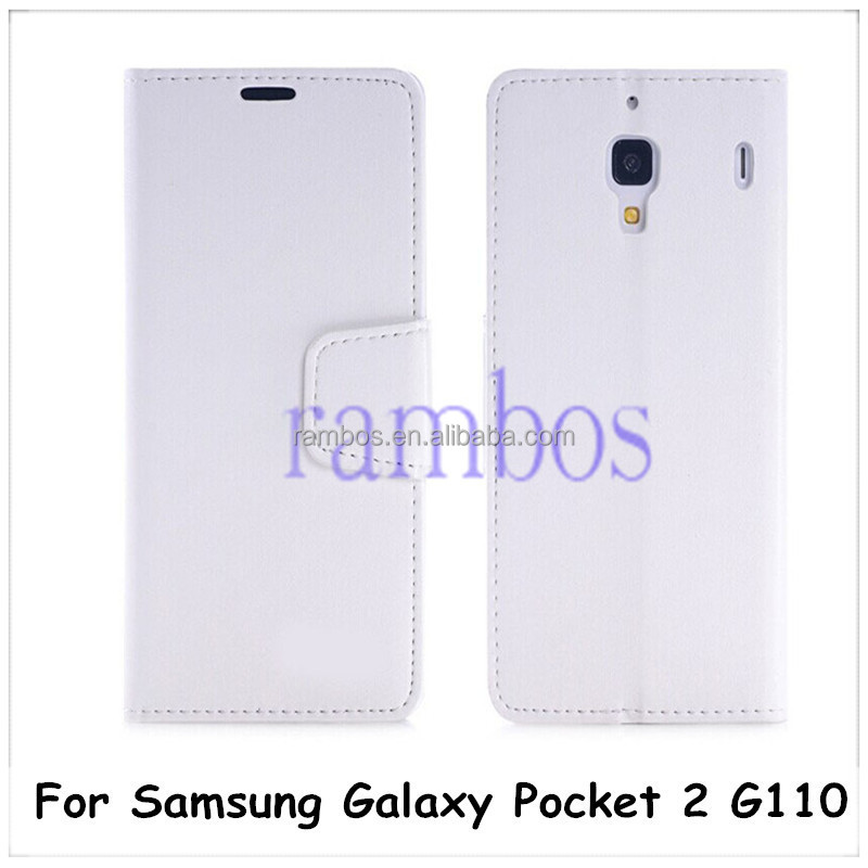 Leather Flip Case Cover Walelt Card Holder for Samsung Galaxy Pocket 2 G110/S3 i9300/S3 mini i8190 / S4/ s4 mini i9190