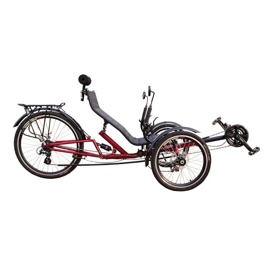 ZZMERCK Adult Pedal Power Folding Three-<strong>wheeled</strong> Recumbent <strong>Bicycle</strong> With Rear Suspension