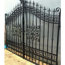 Nolens used wrought iron door main gate/ gate grill design/Ornamental Garden Wrought Iron Gate