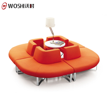 Latest Design Fabric Cover Lounge Sofa Couch/Modern Small Circular Sofa For Sale