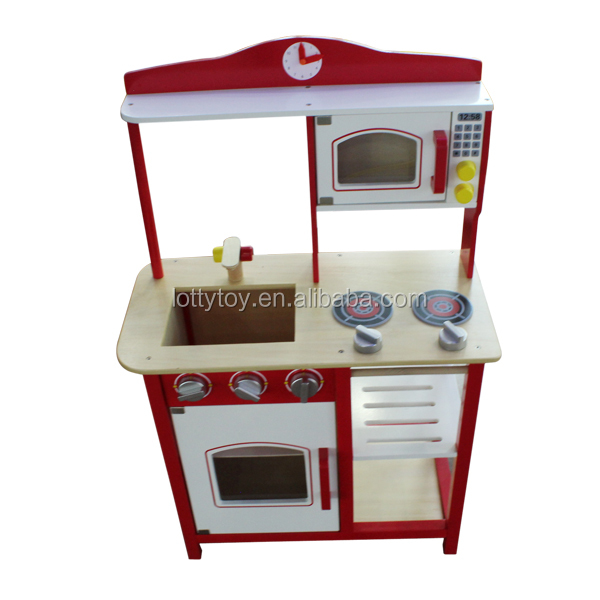Children cabinet wooden kitchen toys