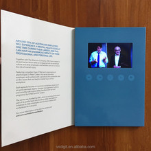 2017 OEM printed a4/a5 7'' 10.1 inch LCD screen video brochure booklet /video greeting cards