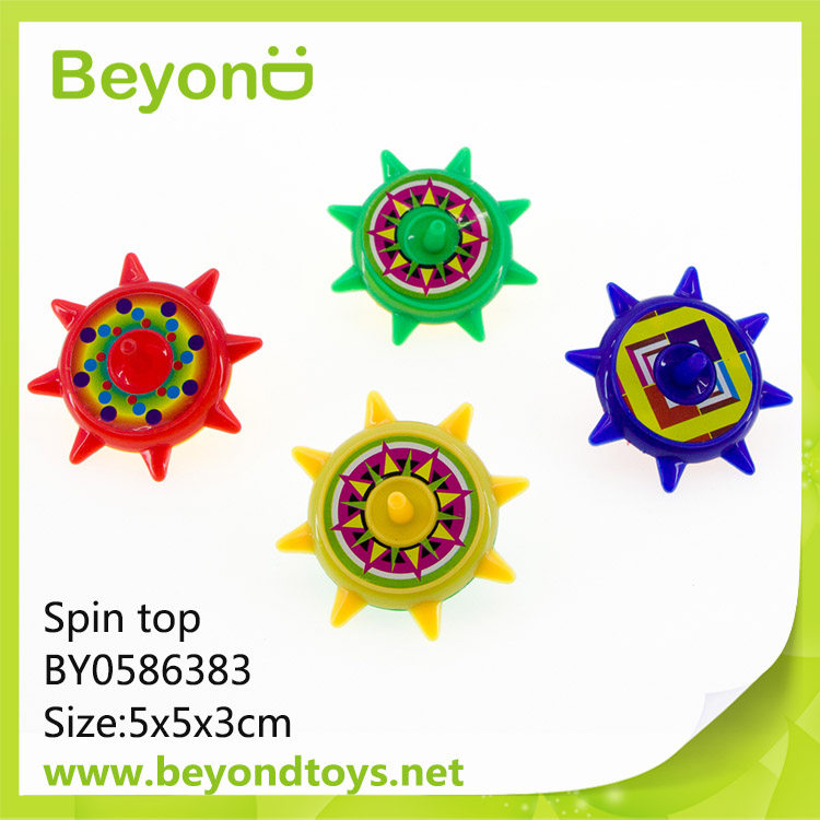 Cheap Promotional Gift Plastic Children Toy Spin Top