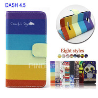 for blu dash 4.5 case, pu leather flip wallet cell phone case for blu dash 4.5 d310 with stand