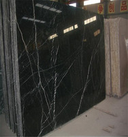Black color marble nero Marquina marble price marble and granite polish