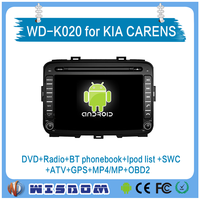 WISDOM Android 4.4.4 car dvd player radio gps navigation system for KIA CARENS Kia Rondo 2013 2014 2015 car audio stereo WIFI 3G