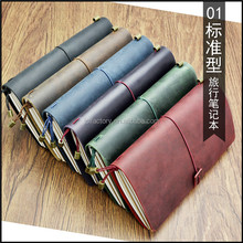 classical style western book personalized leather agenda notebooks