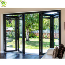 Commercial shop villa aluminum frame glass door/aluminum bi folding door