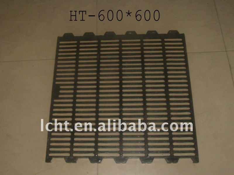 600x600mm Durable pig cast iron slat flooring