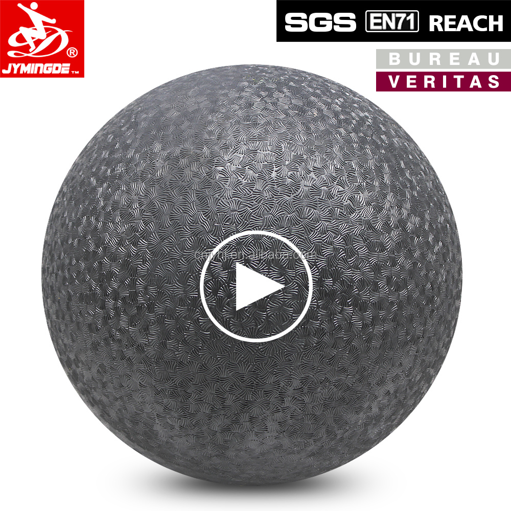"Black soft custom 10"" playground balls rubber bouncy ball"