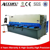 cnc galvanized sheet guillotine cutting shearing machine, galvanized sheet guillotine cutter