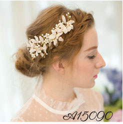 Gold Plated Bride Hair Vine Wedding Costume Jewellery