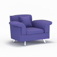 Purple KTV room vintage tailored twill velvet sofa armchair imported from china