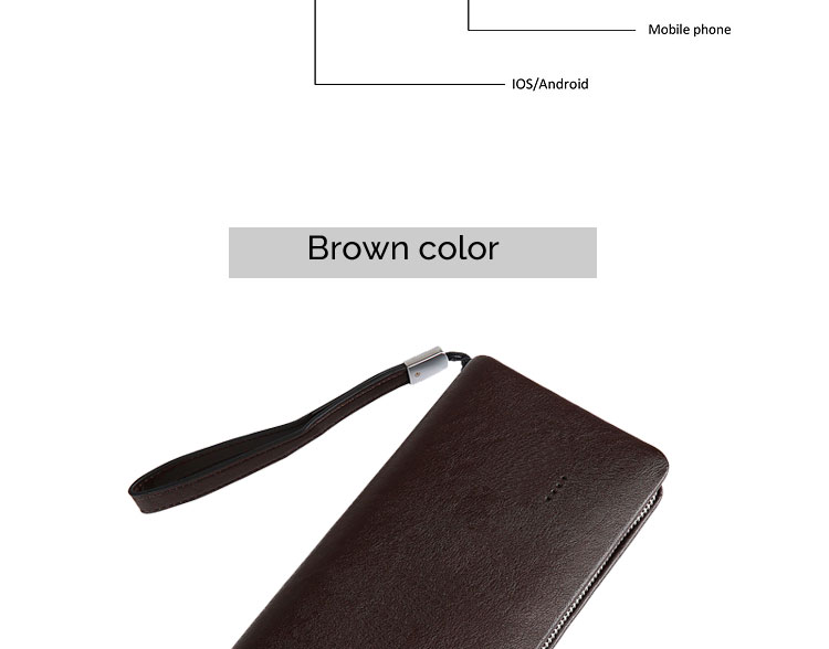 Hot sales business/ travel  leather wallet with power bank