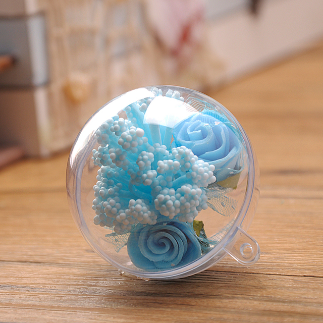 Openable Clear Plastic Christmas Decoration Ball-5CM