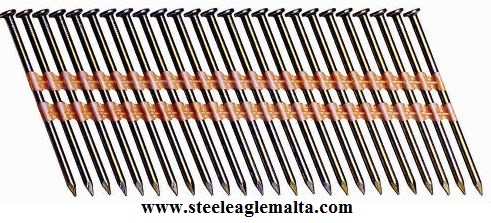PAPER OR PLASTIC STRIPE COLLATED NAILS
