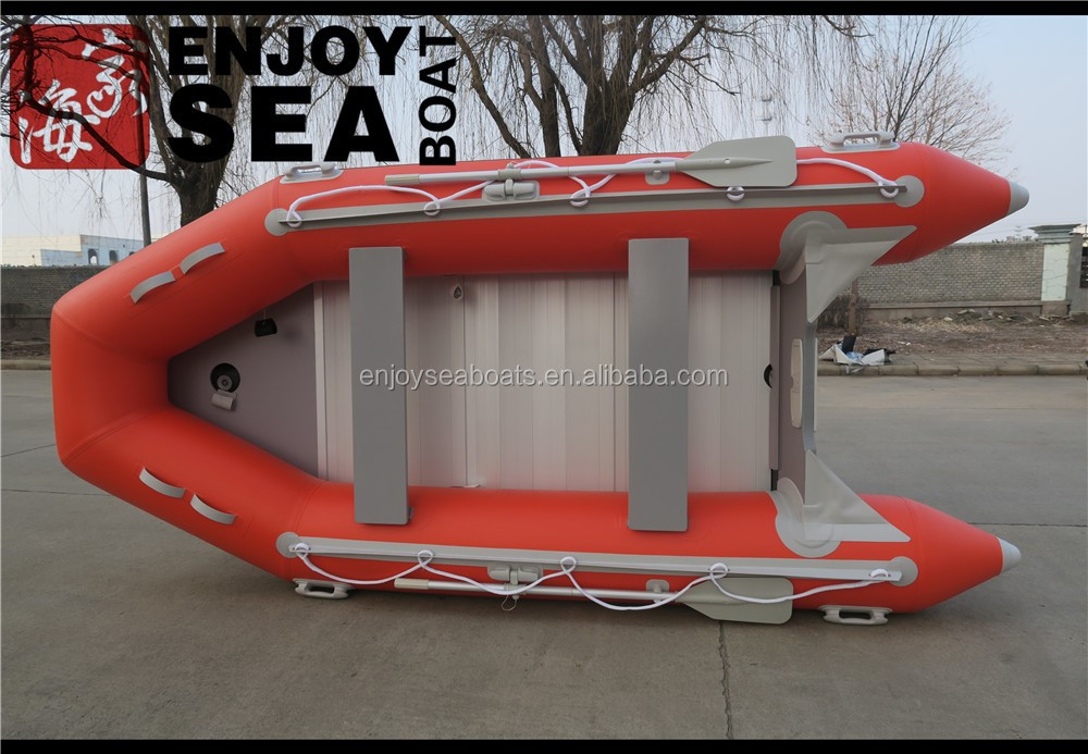 Inflatable PVC high speed fishing rubber pontoon boat made in Qingdao Jiahai