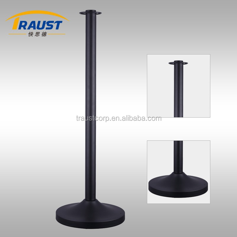 Stainless steel pipe stanchion iron railing stand pole with twisted rope.