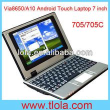 Mini Laptop 7 inch Via8650 Android 4.0/Windows CE 256MB RAM 4GB HDD (702)