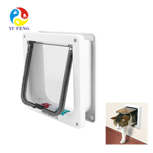 Pet Cat Door Flap 4 Way Magnetic Lockable Dog Kitty Pet safe Size S/M/L 2 color
