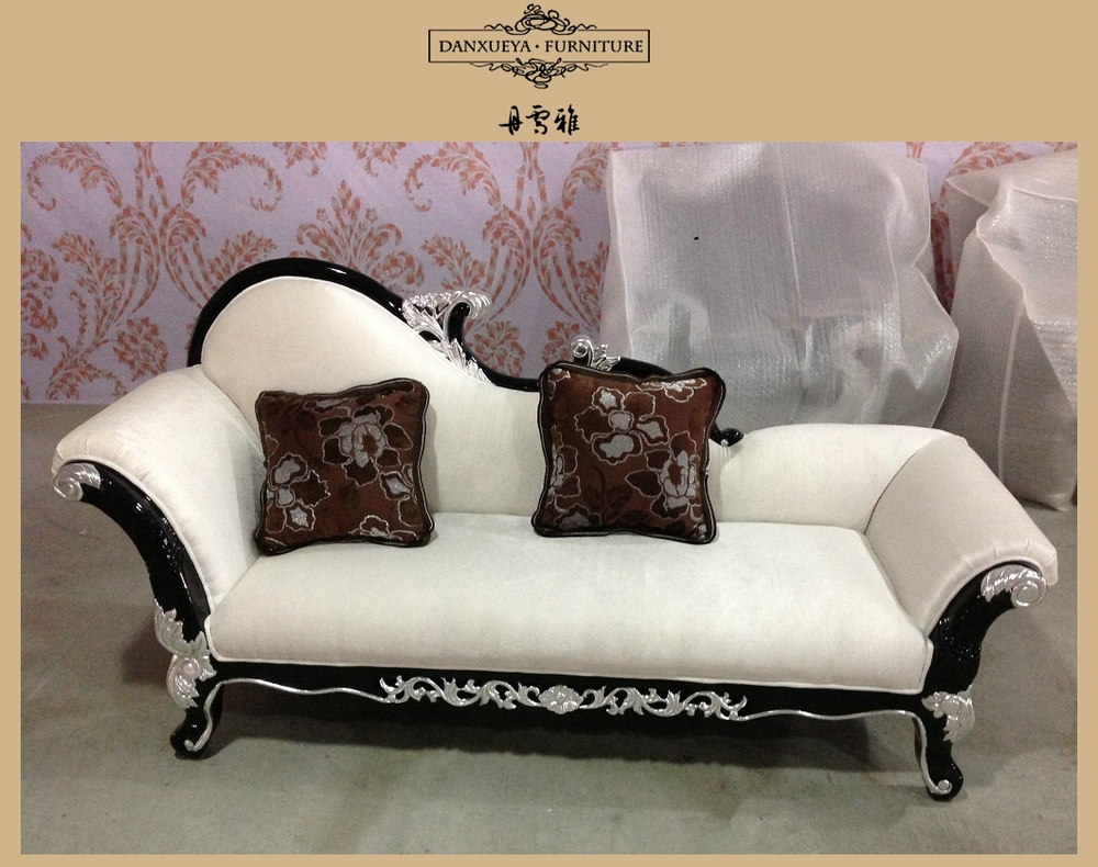 Solid wood frame throne sofa classical sectional sofa for Baroque chaise lounge sofa
