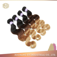 Quality guaranteed wholesale 100 percent three or two tone marley braid human hair 1b 4 27/1b 4 30 for beautiful women