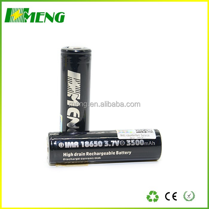 Best Vapor Battery MENG 18650 battery 3.7v 3500mAh vape battery with low price