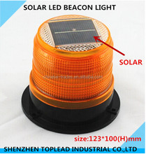 Wholesale Amber 5V 70mA Solar Led magnetic Street Beacon Light
