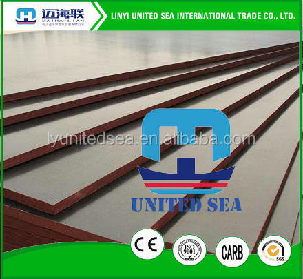 phenolic film faced plywood board price/structural plywood/shuttering film faced plywood