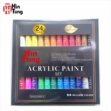 24pcs 12ml Acrylic Paint set with 3 brushes