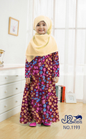Girls print summer islamic clothing