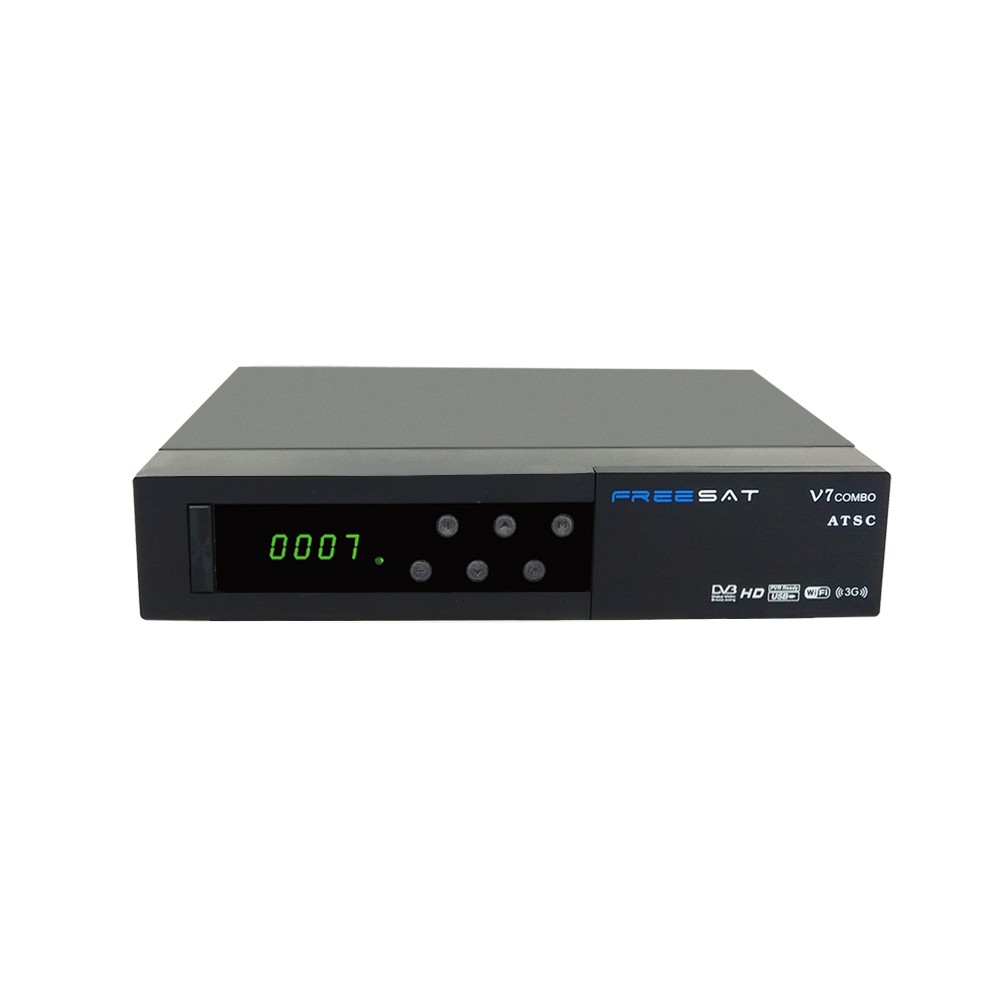 Original Freesat V7 Combo HD 4K Satellite Receiver DVB-S2+ATSC Decoder for Encrypted Channels Support CCCAM+AC3