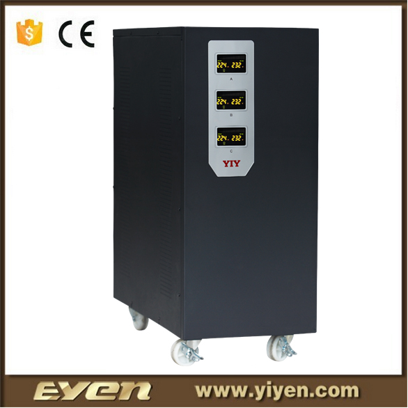 SVCIII vertical 15KVA servo motor type three phase voltage stabilizer 220V/380V