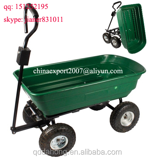 Garden Tool Cart TC2145 with 4 Wheels and Plastic tray