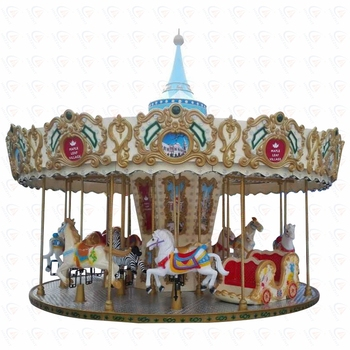 Popular Amusement Ride European Style Carousel Horse Merry Go Round for Sale