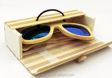 Classic Bamboo Case for Sunglasses Wooden Sunglasses Box with Rubber Band
