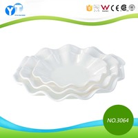 Flower Shape Bulk Production Ceramic Salad Fruit Plate