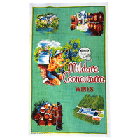 Tea Towel Mildara Coonawarra Wines South Australia Souvenir