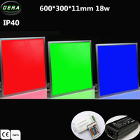 Factory price led ceiling rgb dmx panel, 600x300 led panel