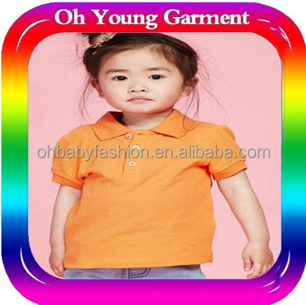 Customized baby clothes latest design apparel for kids blank polo shirt for children