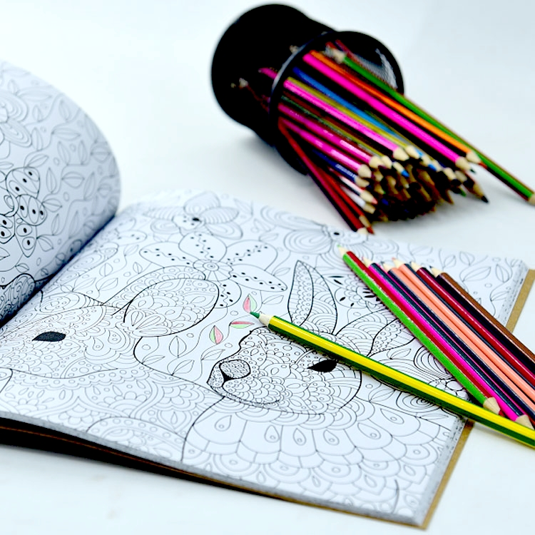 Notebook Colouring With Pencils / Crayons/ Coloring Book / Sketch ...
