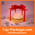Custom New design Small Clear Plastic Cake Box Printed