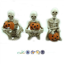 2015 Halloween LED pumpkin resin skulls craft