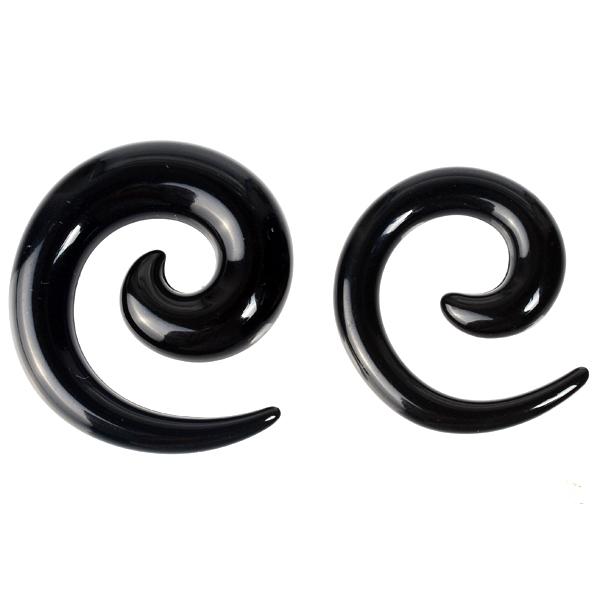 Body jewelry acrylic ear spiral expander different colors tunnel and plug
