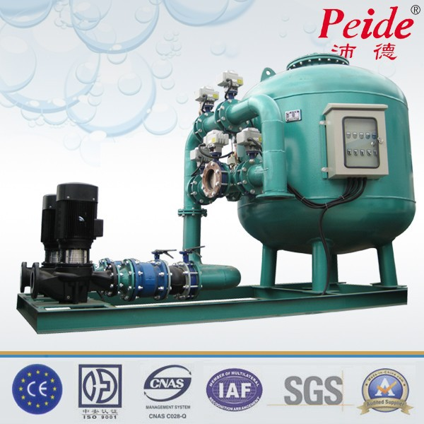 1.0MPa pressure high flow sand filter for waste water with pump