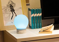 Cordless rechargeable color changing bluetooth smart led table lamp speaker