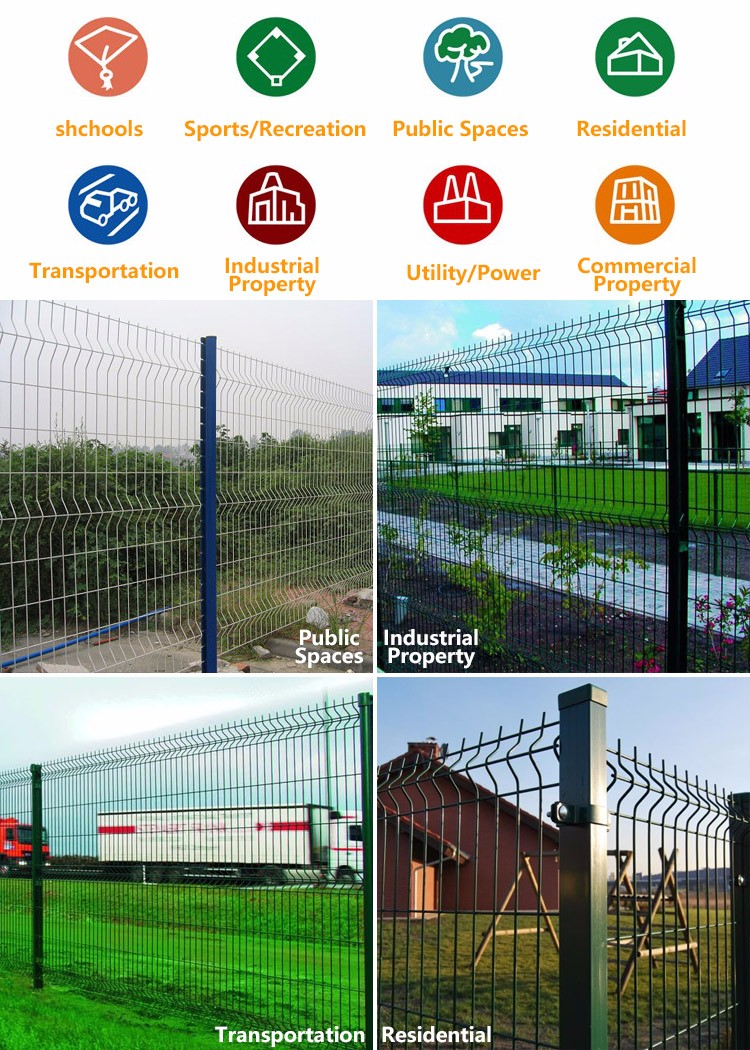 buy direct from china factory Anping Factory Cheap powder coated garden folding fence
