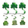 Saint Patrick's Day Hanging Foil Swirl Decorations with Cutouts